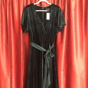 Lane Bryant Holiday Christmas velvet dress 22/24